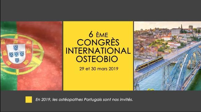 Affiche congrès 2019 de l'école d'ostéopathie Ostéobio Paris